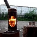 Компактная печь-камин для дачи и похода