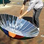 Компактная солнечная печь из зонта