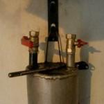 Печь на отработанном масле из трубы