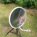 Пожарьте зимой картошку на солнечном концентраторе из спутниковой тарелки
