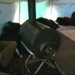 Дровяная печь для палатки