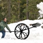 лопата с колесами