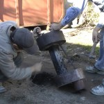 Как чистить печь на отработке взрывом петарды