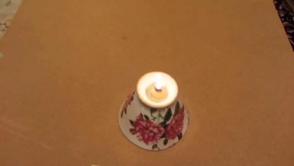 Светильник на основе подсолнечного масла