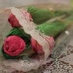 Цветок тюльпана из бумаги на видео