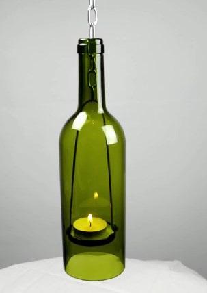 лампада для свечи из бутылки