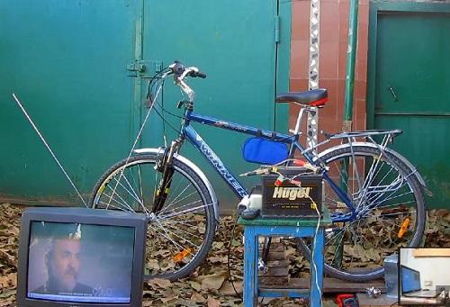 электрогенератор из велосипеда