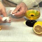 Свеча из масла с лимоном для романтического вечера