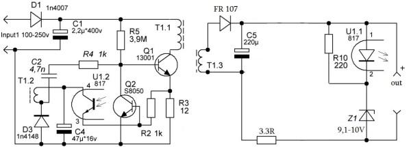 Как работает стабилитрон в зарядном устройстве