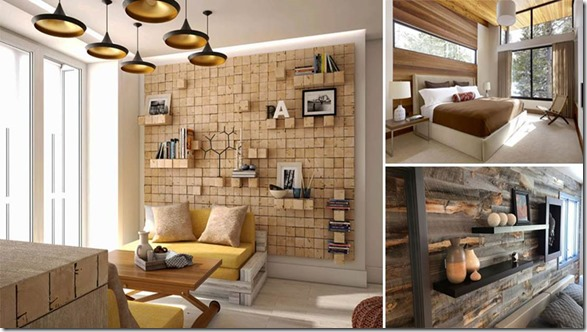Как сделать в комнате деревянные панели