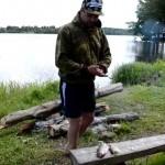 Рыба, копченая на костре