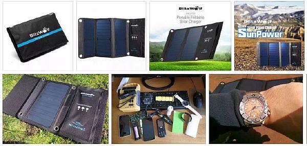 BlitzWolf® 20W 3A Foldable Portable
