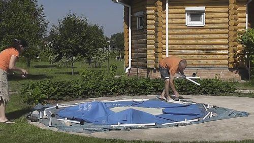 Сборка бассейна BESTWAY
