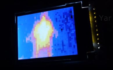 Сканирующий тепловизор из датчика температуры
