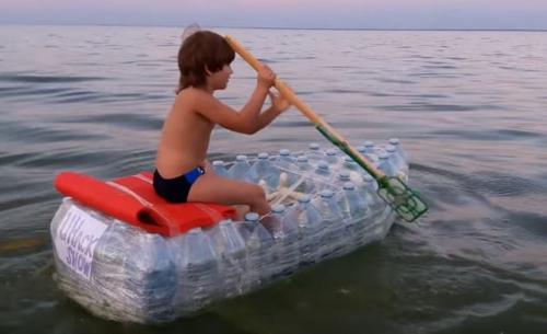 лодка из пвх бутылок