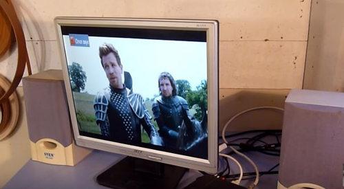телевизор из монитора без пк