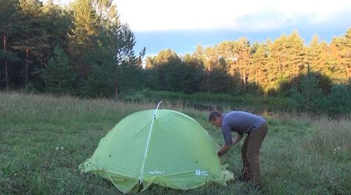 Как согреть палатку сеном