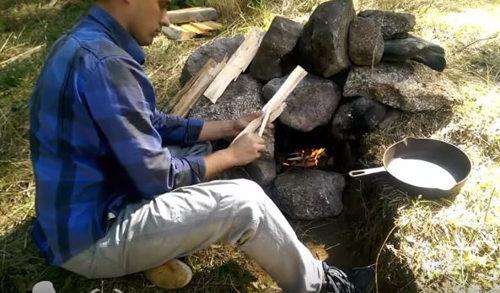 печь из камней