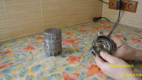 печка из масляного фильтра
