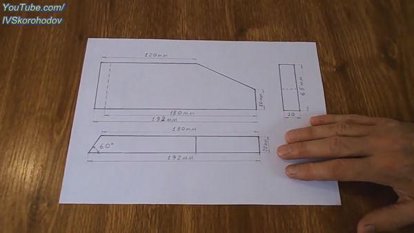 чертеж крестовины для стойки