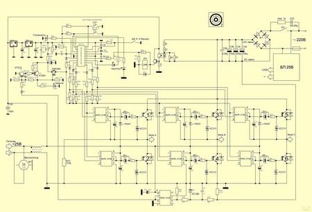 Частотный преобразователь для трехфазного двигателя своими руками
