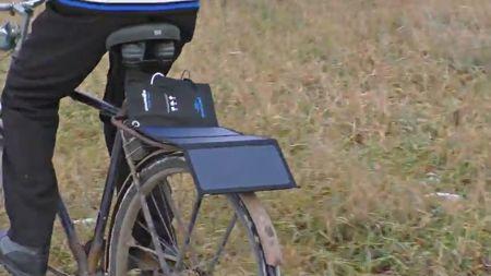 Солнечная батарея для велосипеда
