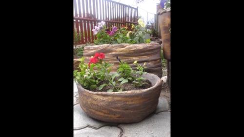 Кашпо из цемента для сада своими руками фото пошагово 62