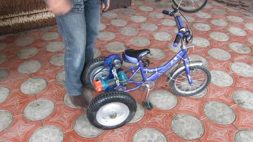 Электровелосипед из шуруповерта