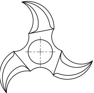 чертеж спиннера для рук