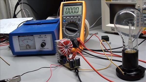 схема преобразователя 12 - 220 вольт