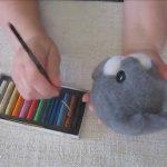 игрушка для ребенка кролик из шерсти