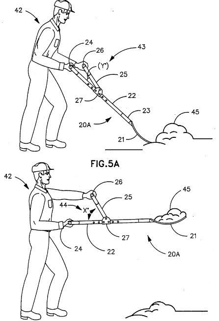 двуручная лопата