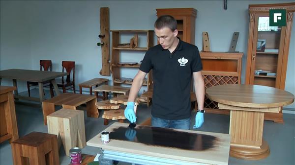 подготовка поверхности под покраску цветным маслом