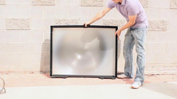 Солнечная печь из линзы от телевизора
