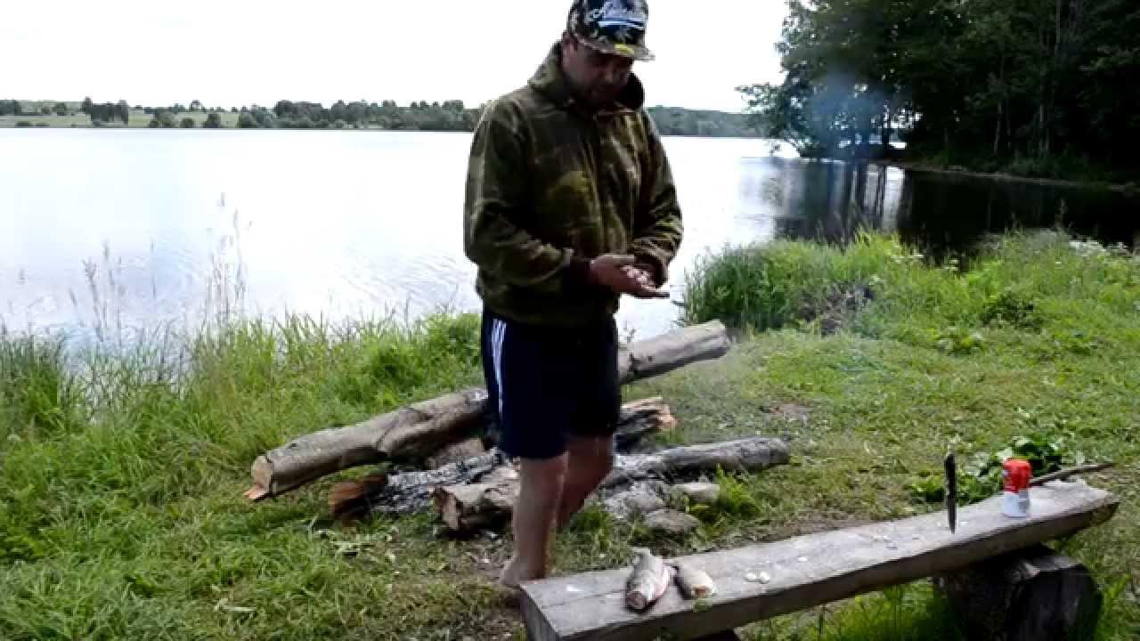 Копчение рыбы на углях