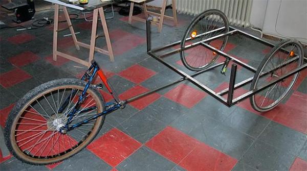 Самодельная рама для трёхколёсного велосипеда