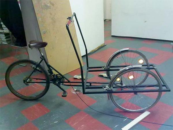 Сборка трёхколёсного грузового велосипеда своими руками