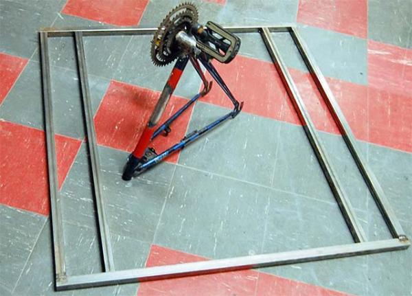 Создание передней рамы для грузового трёхколёсного велосипеда