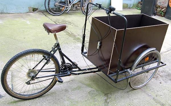 Самодельный грузовой велосипед трайк для взрослых