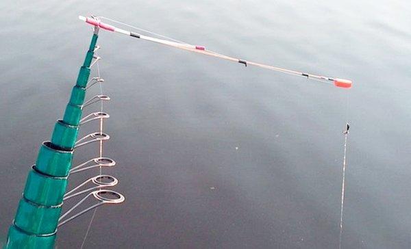 Удочка с кормушкой для рыбалки