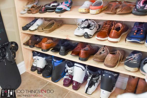 10 +5 вариантов простых полок для обуви