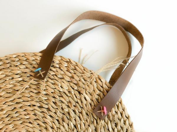 Самодельная соломенная сумка