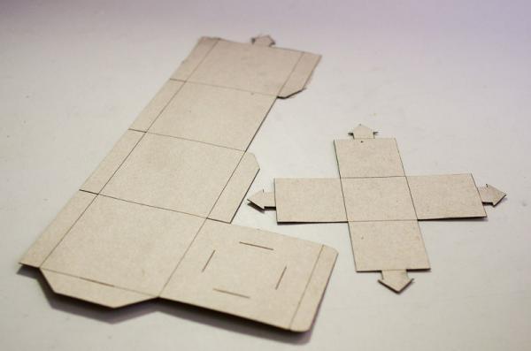Как сделать кубики из картона