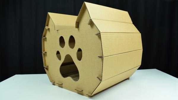 Картонный домик для кошки: инструкция