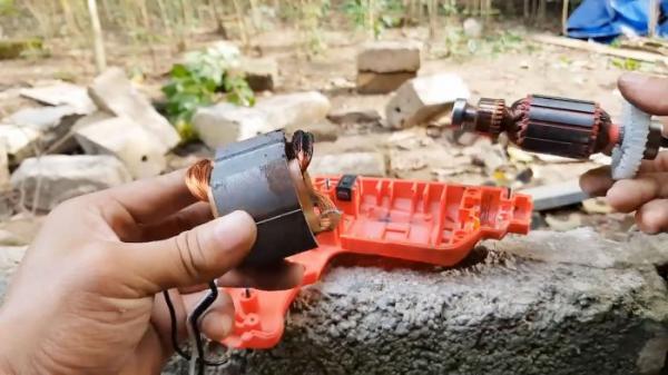 Как восстановить сгоревшую дрель переделав ее с 220 В на 12 В