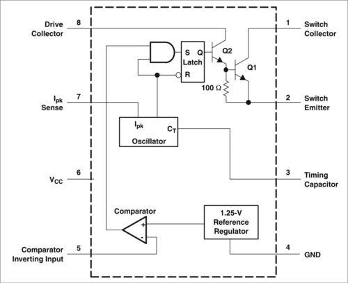 Блок-схема МС34063
