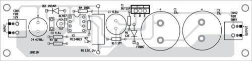 Компоновка компонентов для печатной платы