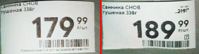 Значки на ценнике